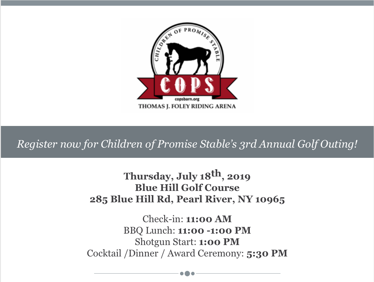 Save the Date: COPS 3rd Annual Golf Outing